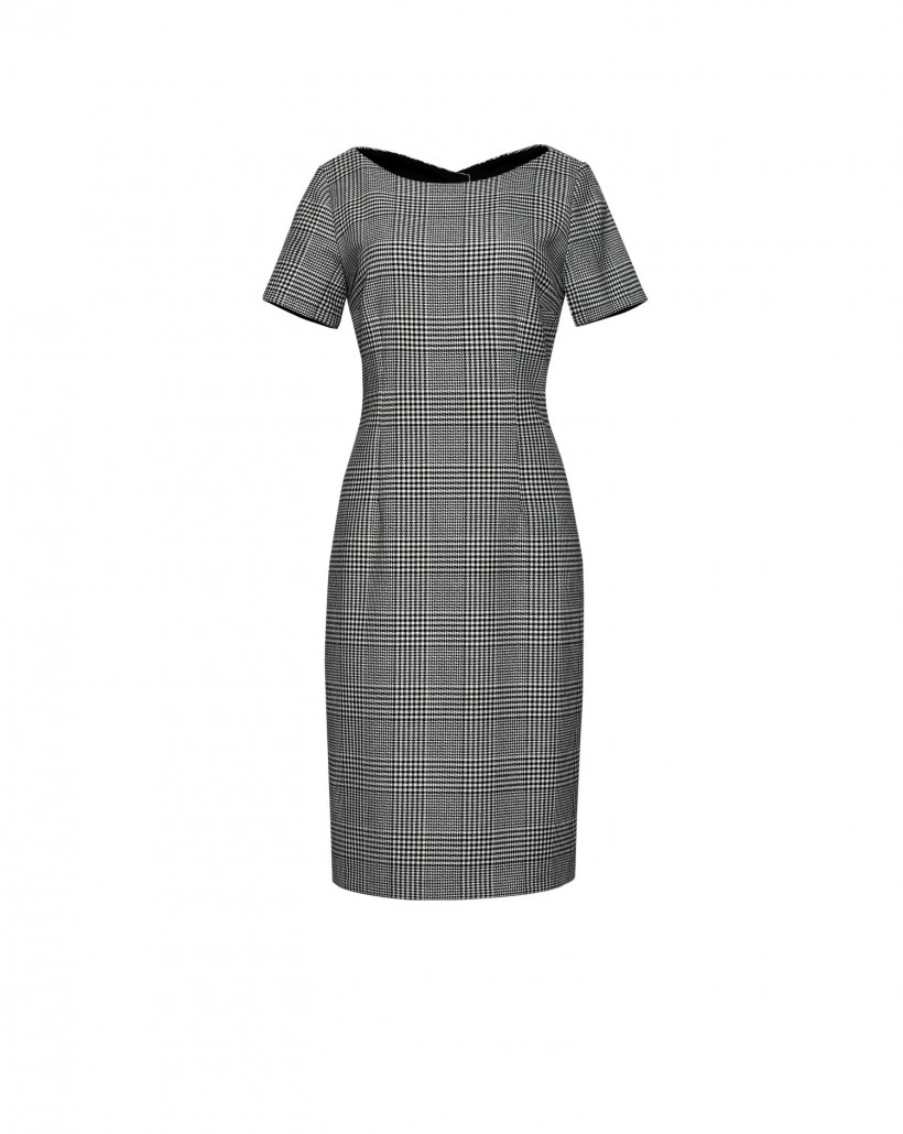 Ołówkowa sukienka z krótkim rękawem