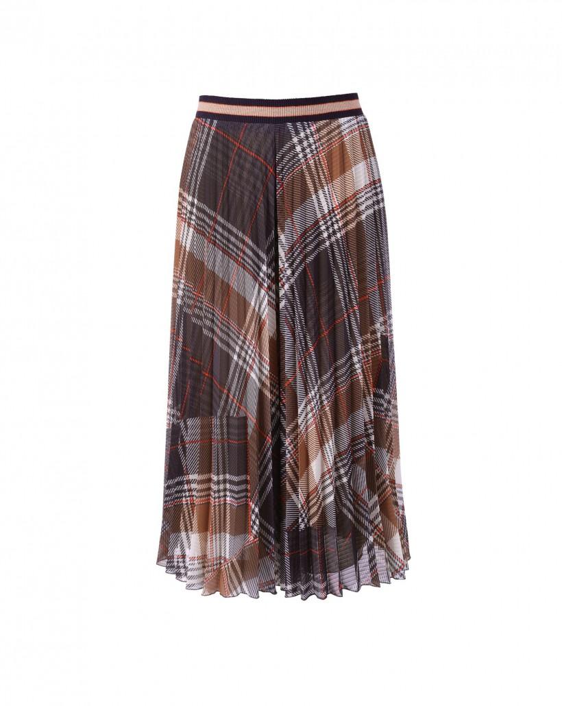 Szerokie plisowane spodnie w kratę