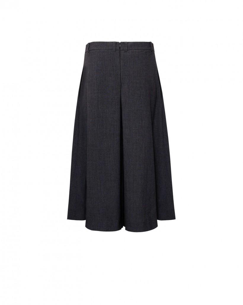 Spódnico-spodnie z kontrafałdami