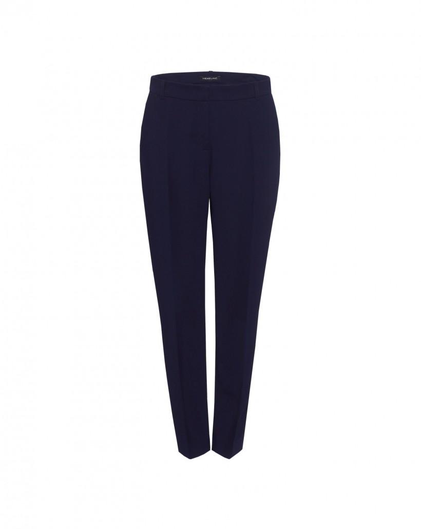 Granatowe spodnie z kantem