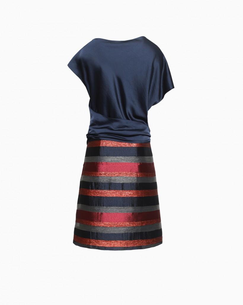 Sukienka z satynową górą