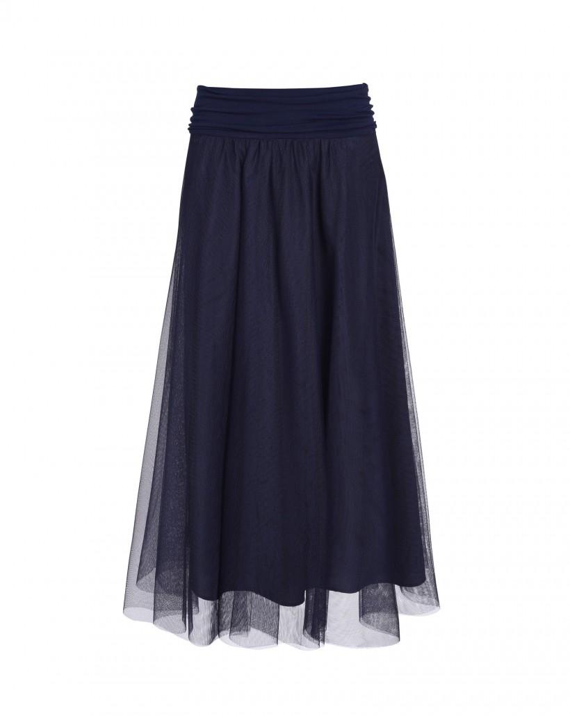 Granatowa spódnica z tiulu