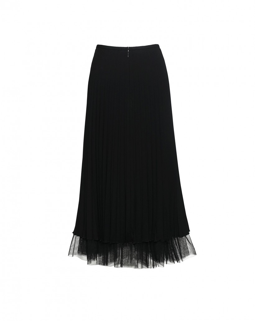 Czarna spódnica plisowana