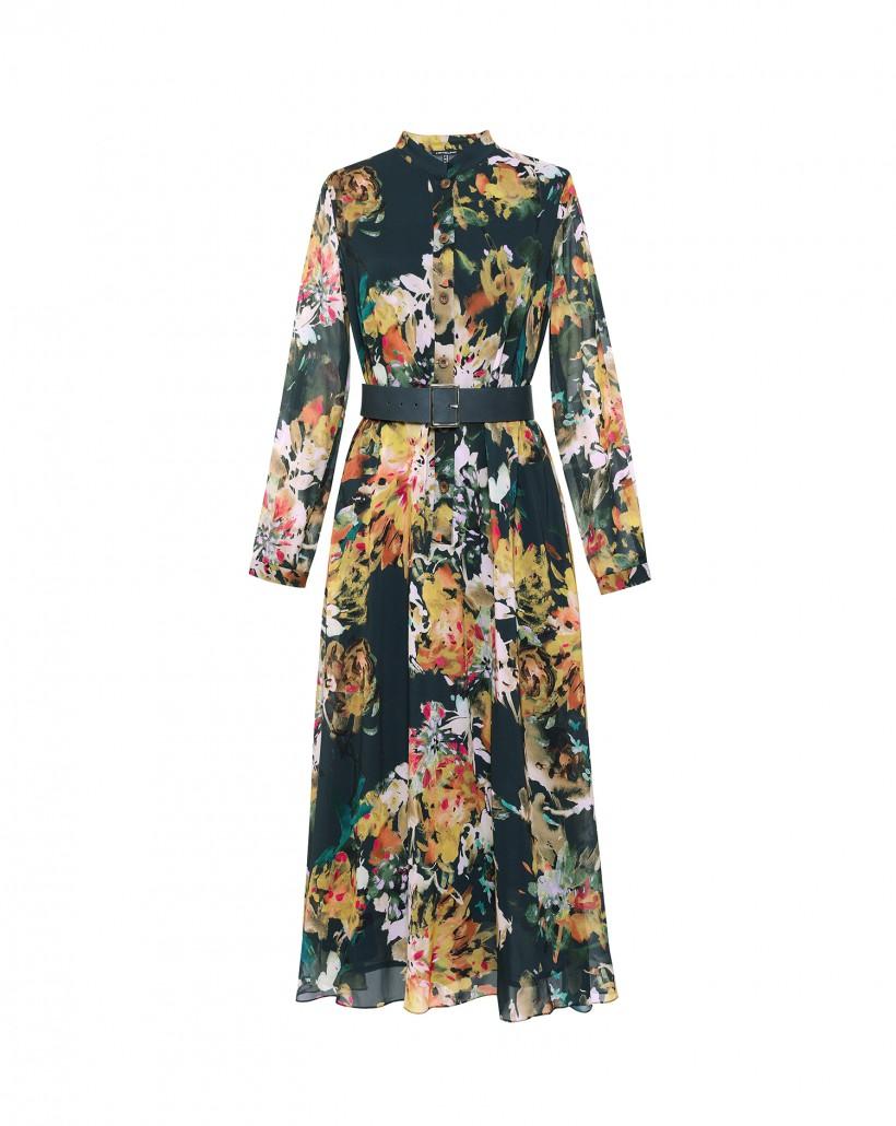 Długa suknia w kwiaty