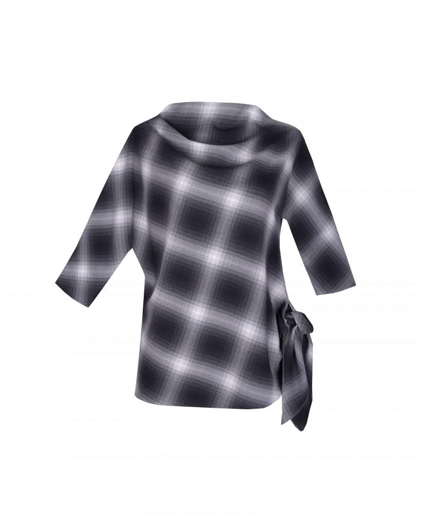 Asymetryczna bluzka z rękawem kimono