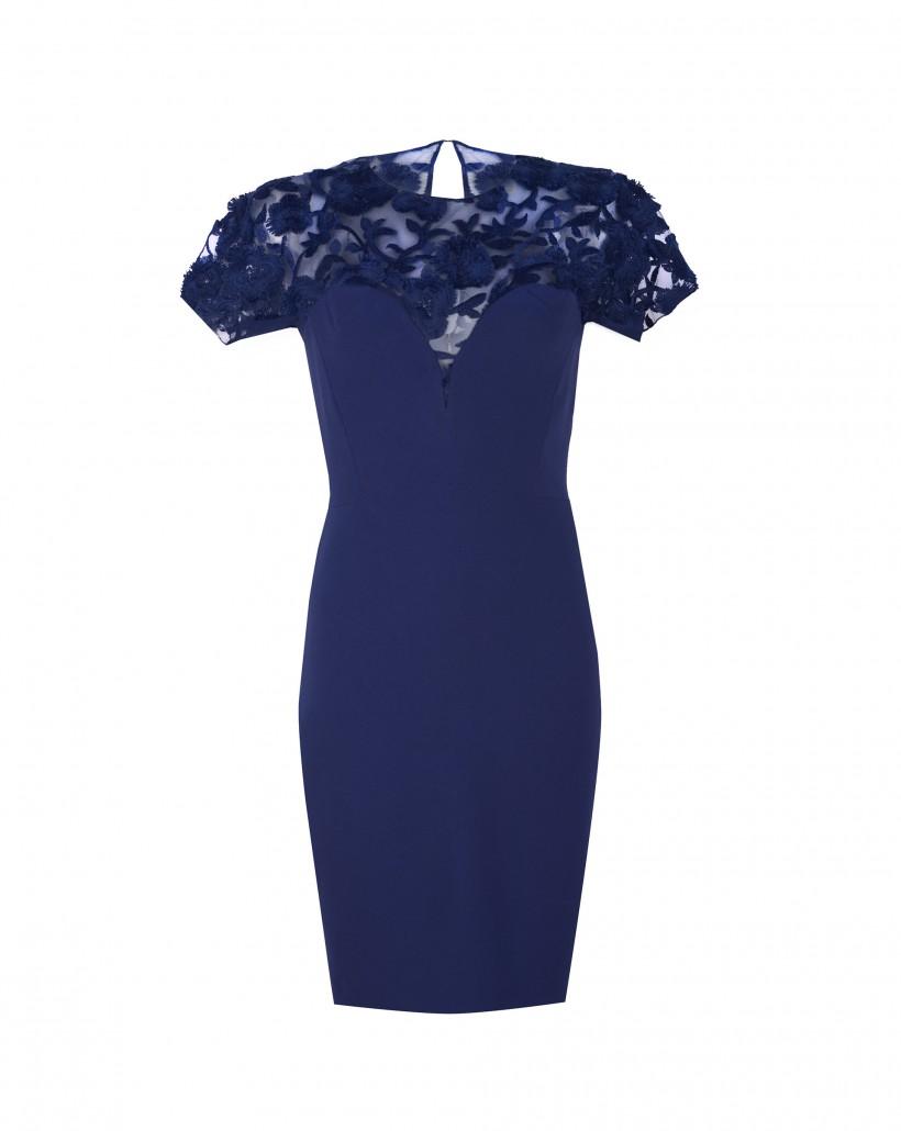bd4a145761 Sukienka z koronkową górą - Sukienki Hexeline Odzież damska