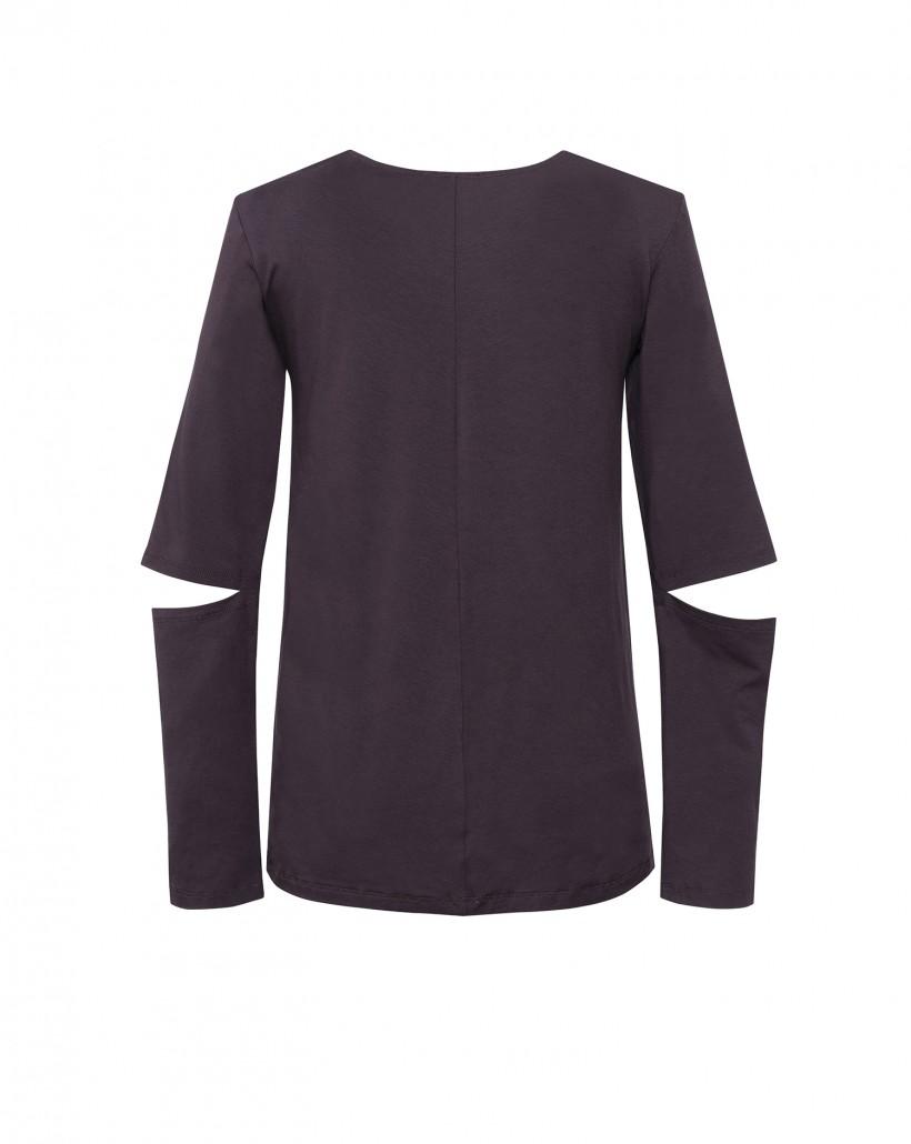 Brązowa bluzka z nadrukiem