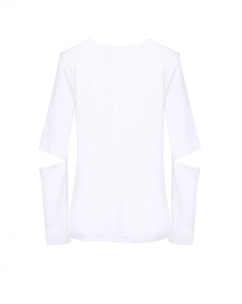 Dzianinowa bluzka z nadrukiem