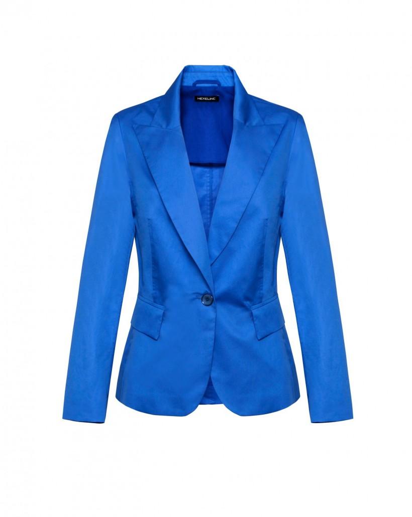 Bawełniany żakiet w kolorze kobaltowym