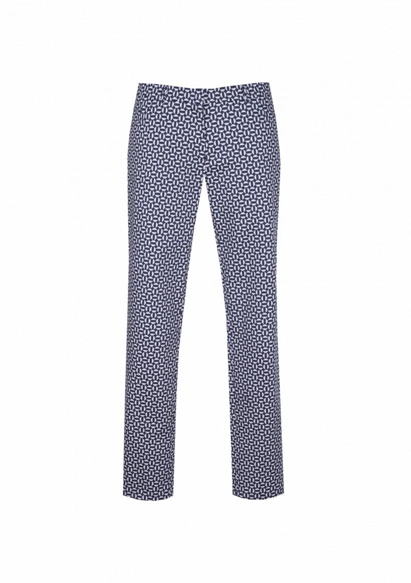 Bawełniane spodnie w geometryczny wzór