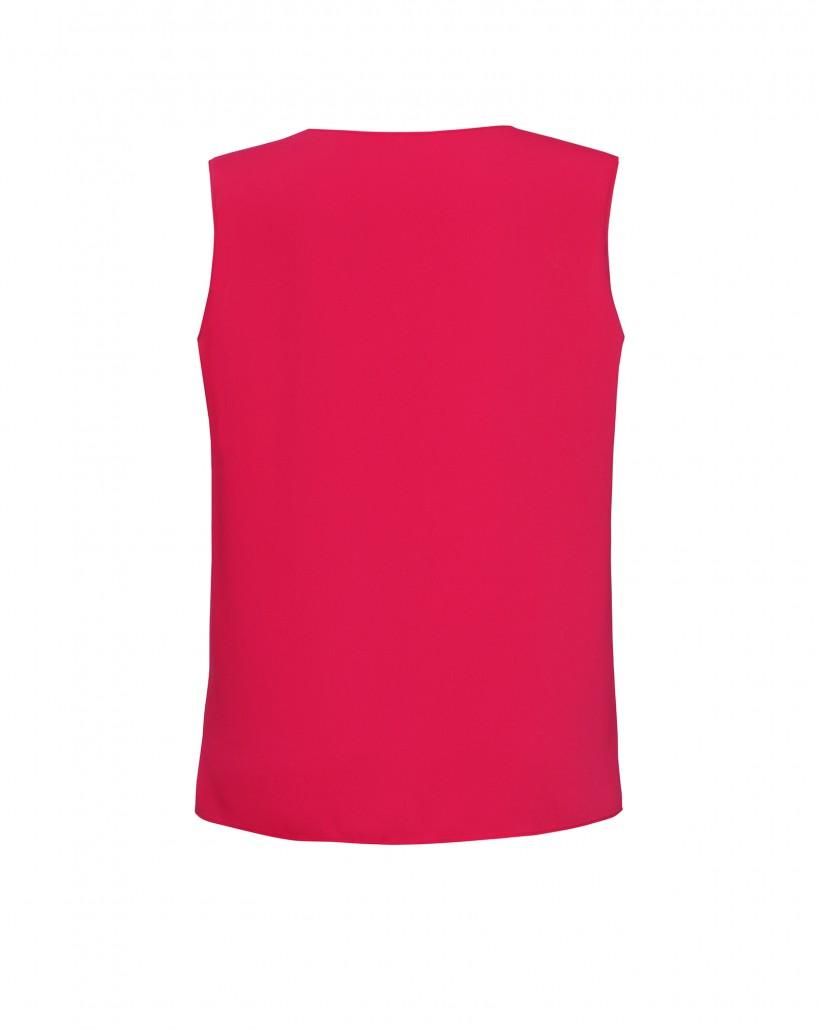 Różowy top na szerokich ramiączkach z lejącej tkaniny