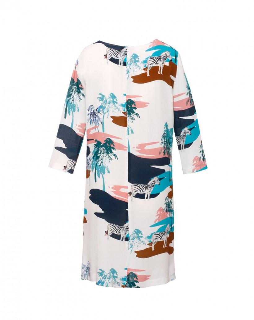 Sukienka z letnim nadrukiem