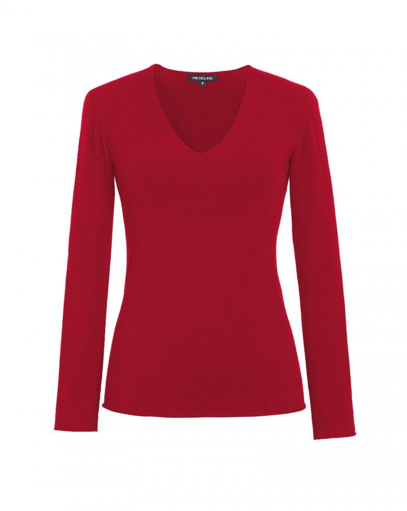 Lekki sweter w kolorze czerwonym