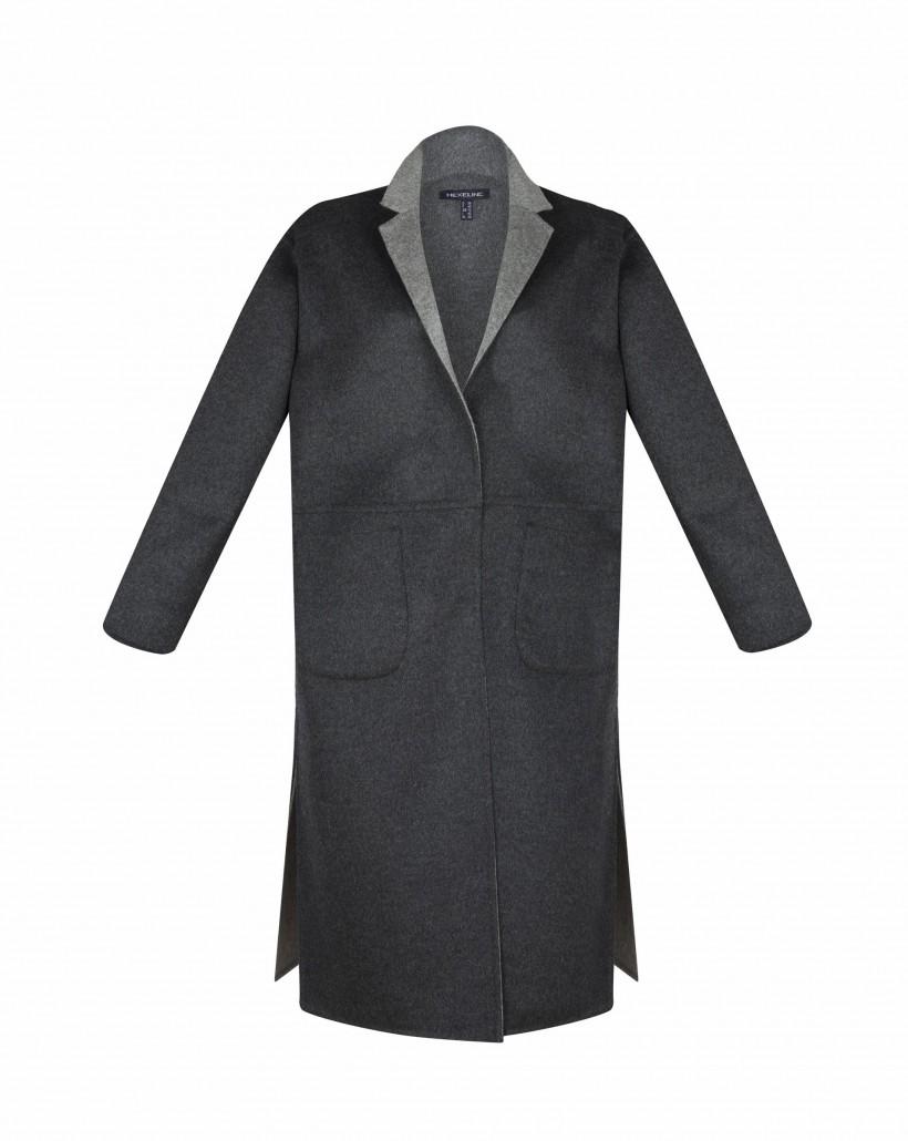 Dwustronny płaszcz wełniany
