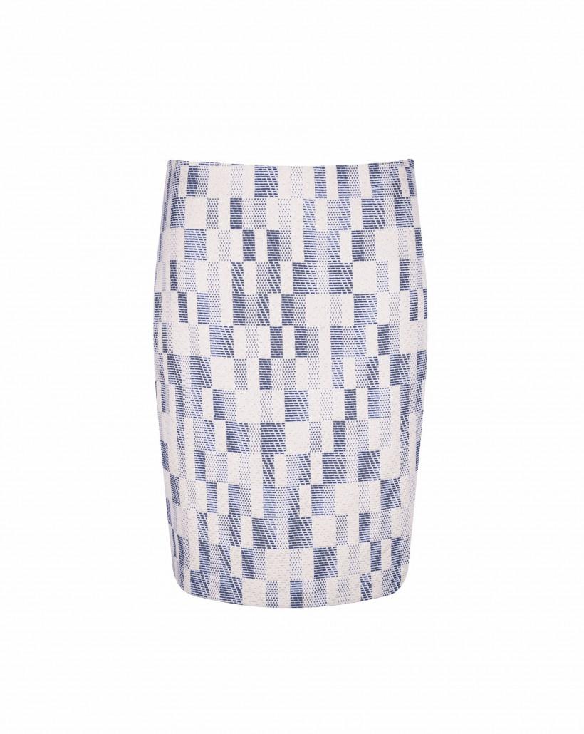 Ołówkowa spódnica z żakardu