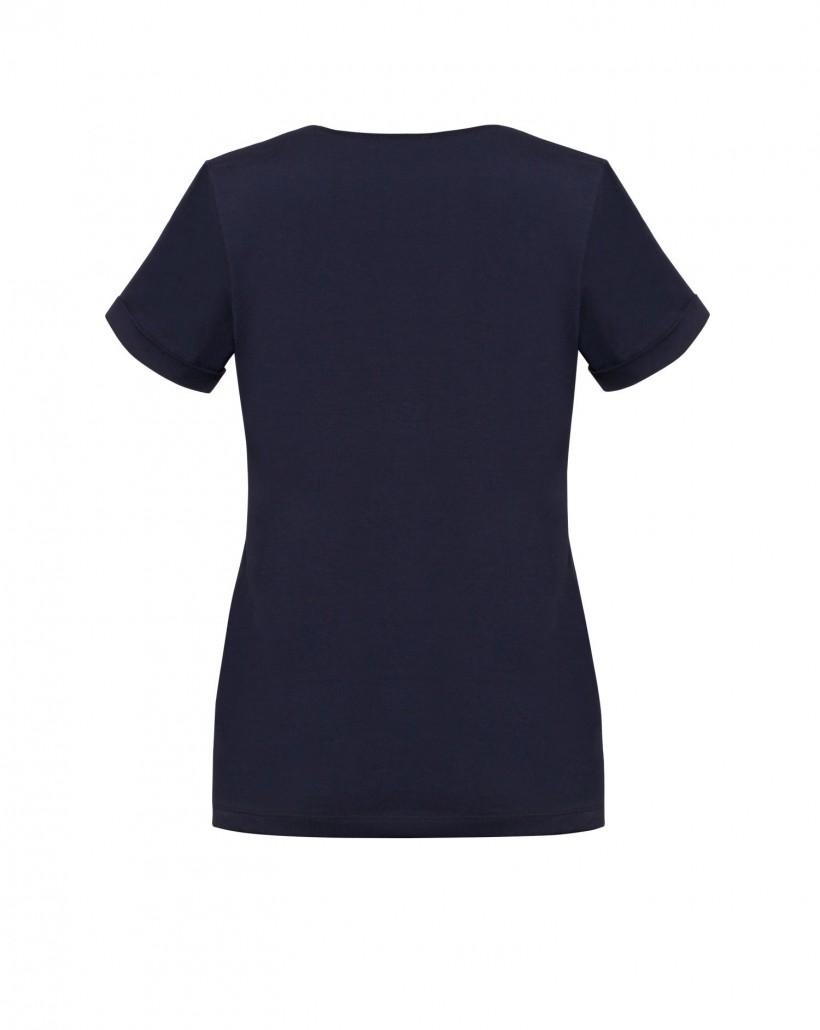 T-shirt bawełniany w kolorze granatowym