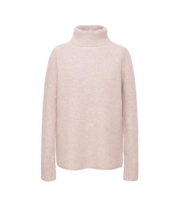 Kaszmirowy sweter z golfem