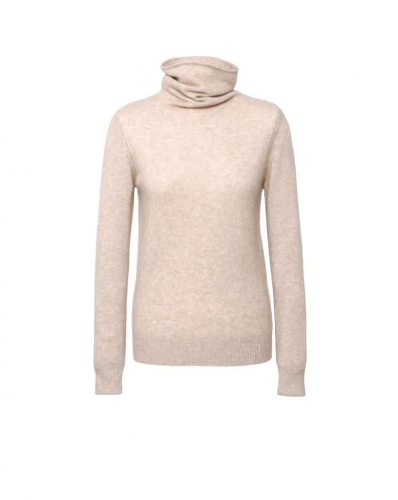Sweter typu golf z kaszmiru