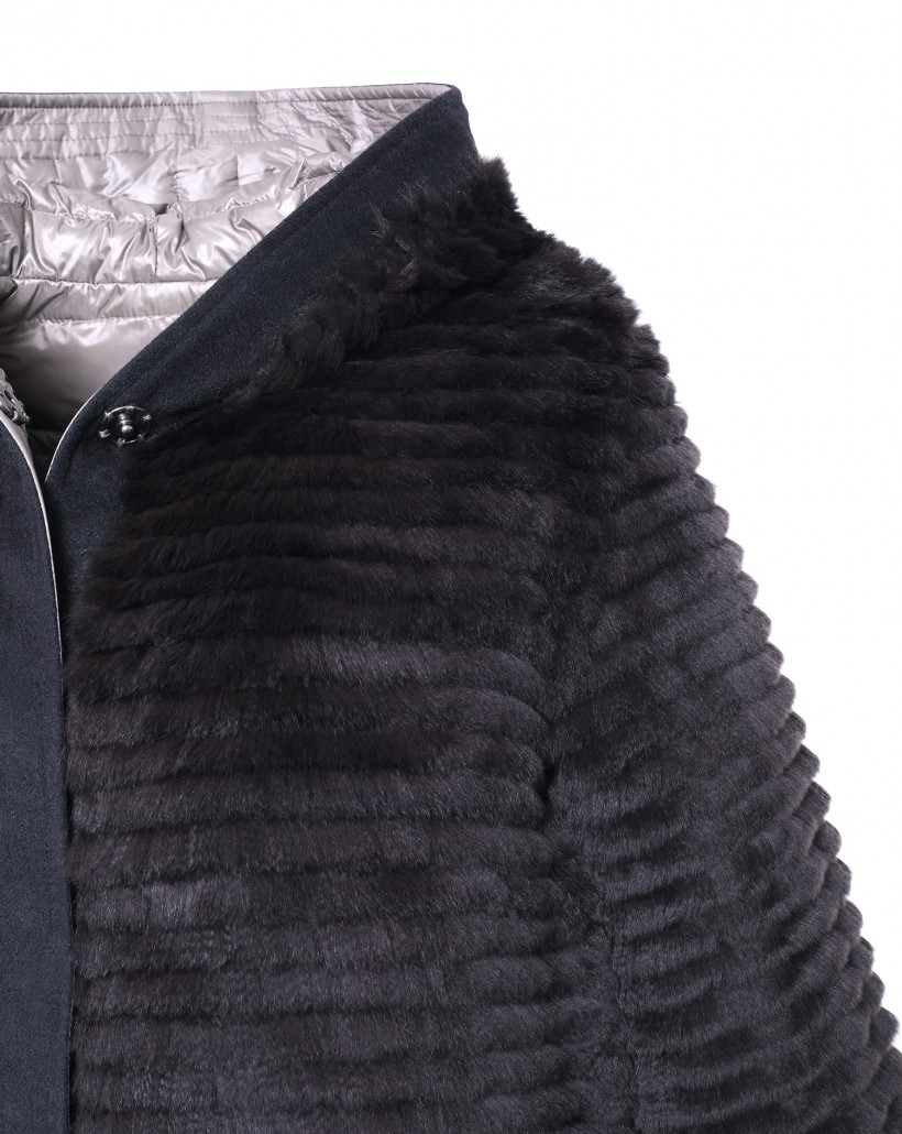 Dwustronny płaszcz z futrem