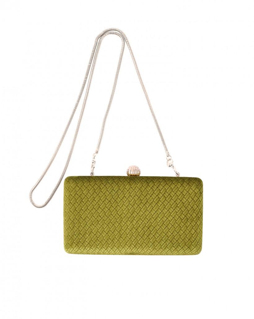 Elegancka zielona torebka