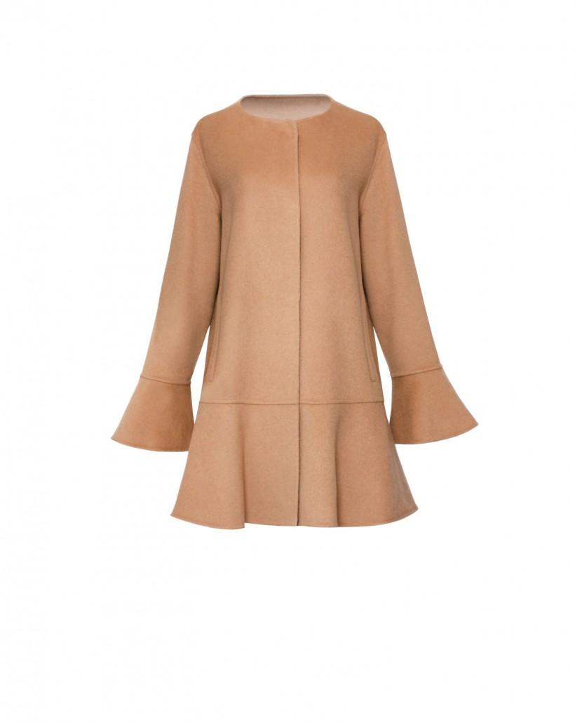 Płaszcz wełniany z dodatkiem kaszmiru