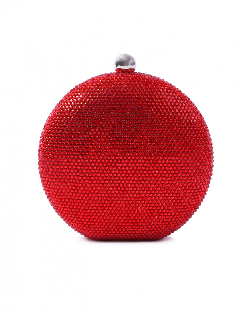 Czerwona okrągła torebka