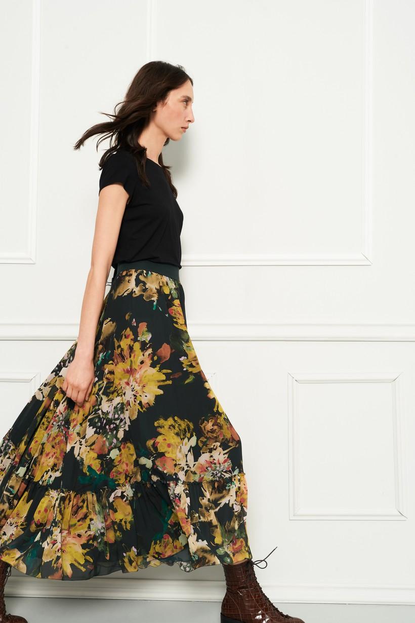 Maxi spódnica w kwiaty
