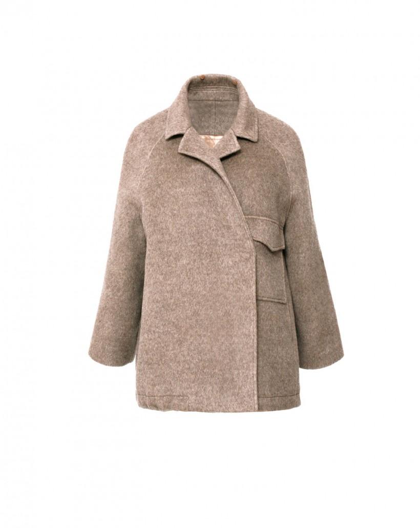 Wełniana kurtka z kieszenią