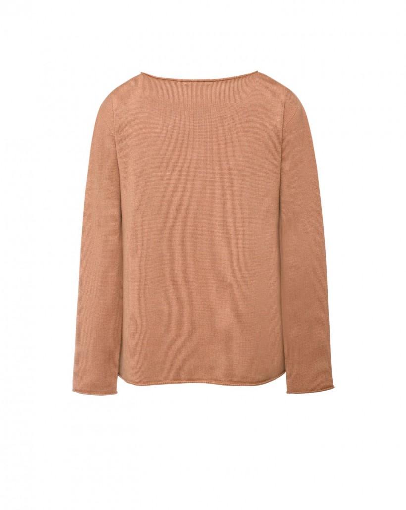 Sweter wełniany w kolorze beżowym