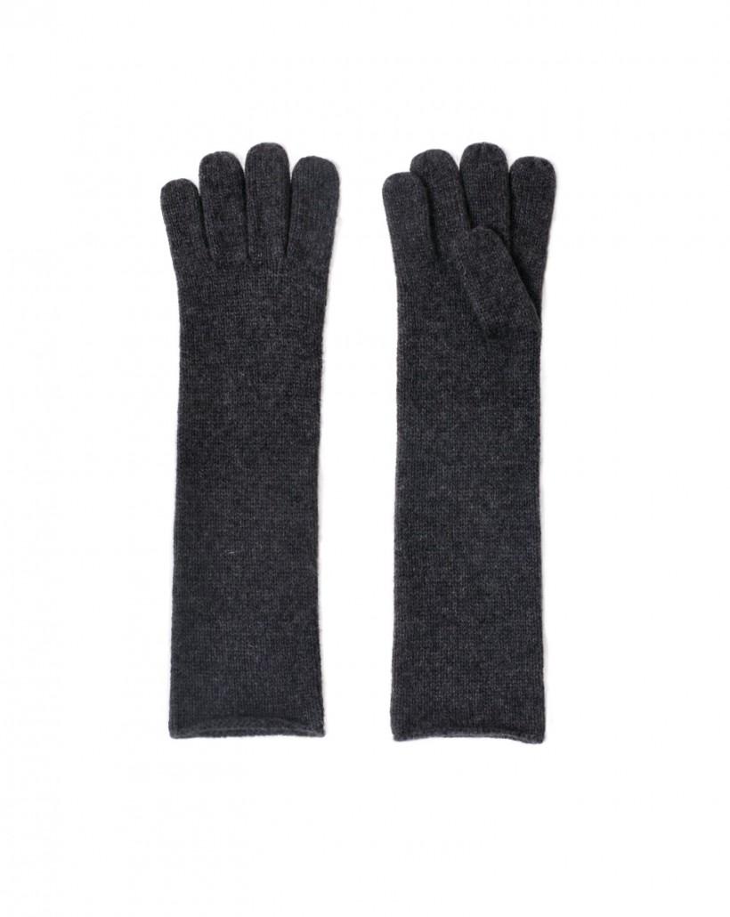 Szare rękawiczki z kaszmiru