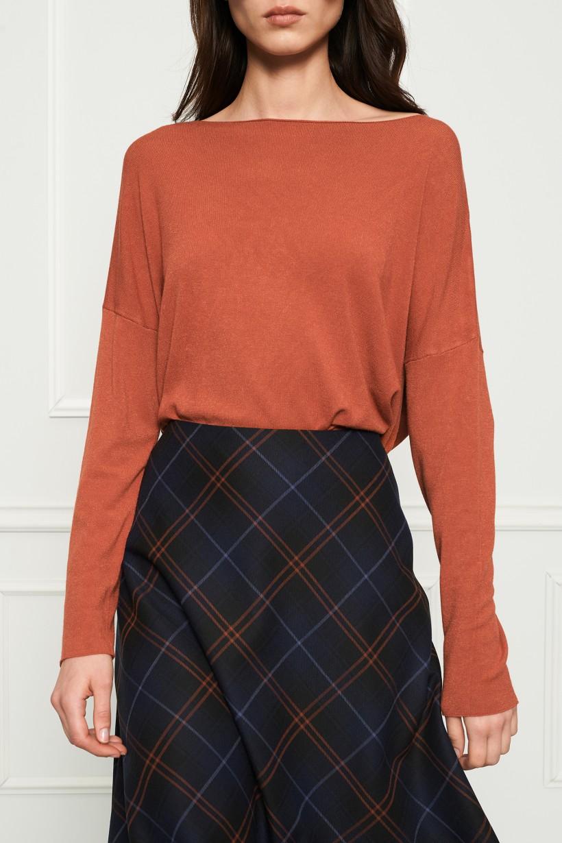 Sweter oversize w kolorze rudym