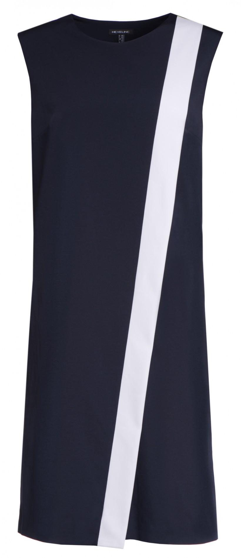 Sukienka z kontrastową plisą