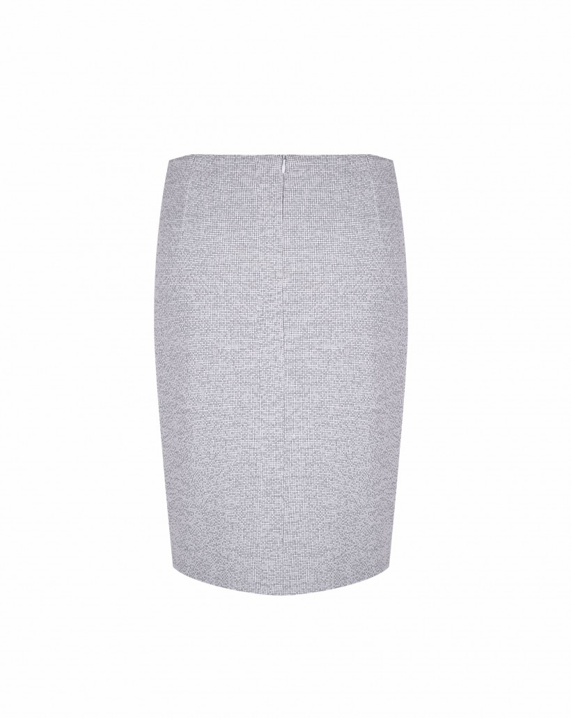 Spódnica z biało-czarnego żakardu