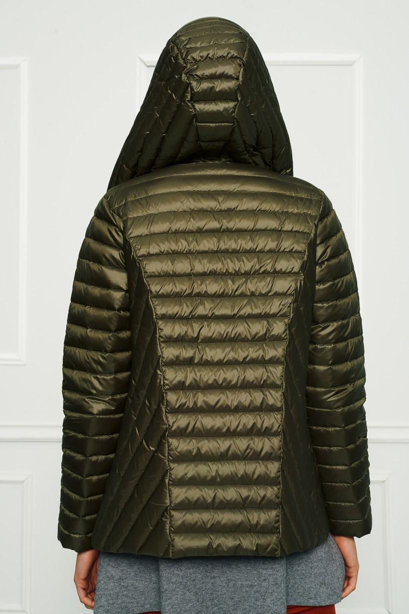 Puchowa pikowana kurtka khaki