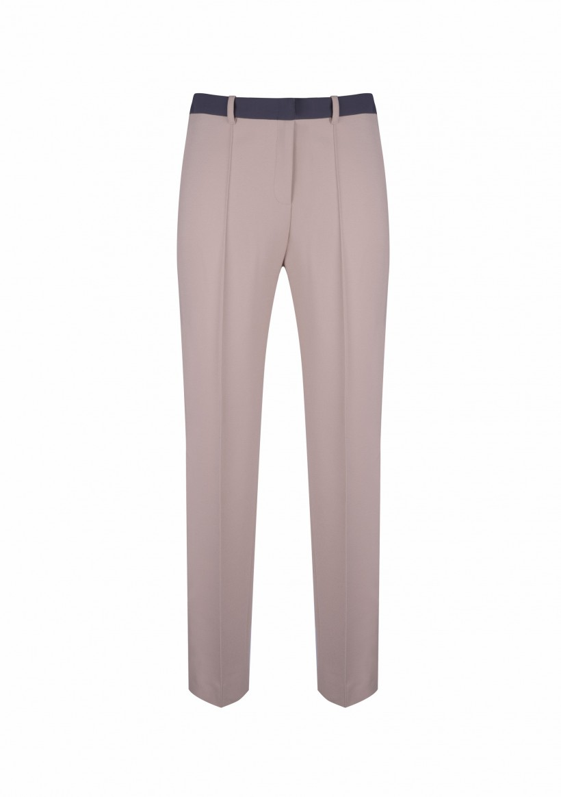 Spodnie z kontrastowym paskiem