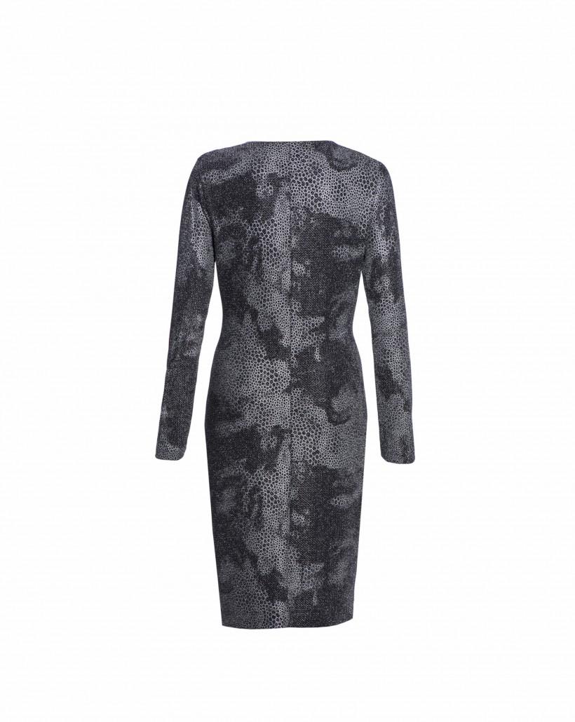 Sukienka z efektownym drapowaniem