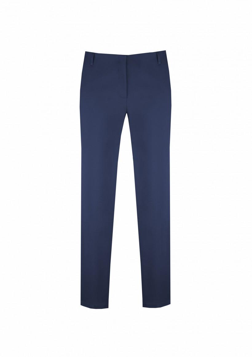 Bawełniane spodnie ze zwężanymi nogawkami