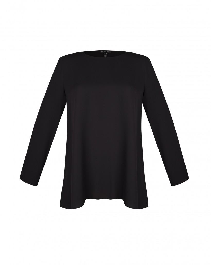 Czarna bluzka z falbaną