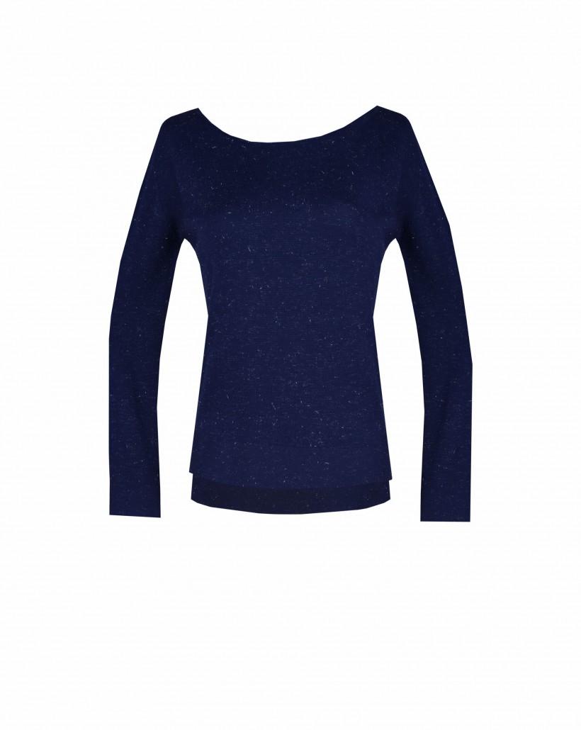 Sweter z głębokim dekoltem