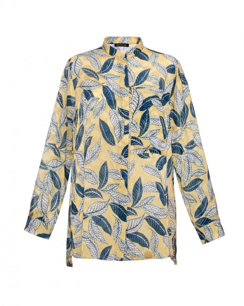 Luźna koszula żakardowa
