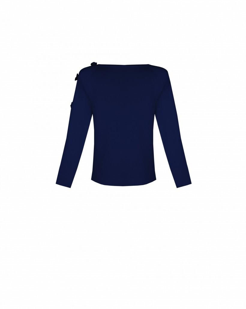 Sweter z kokardkami na rękawie