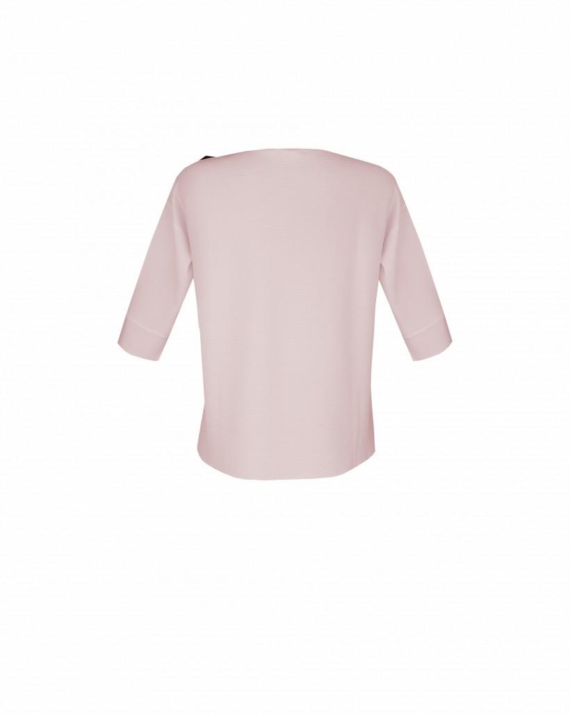 Sweter z kontrastową aplikacją