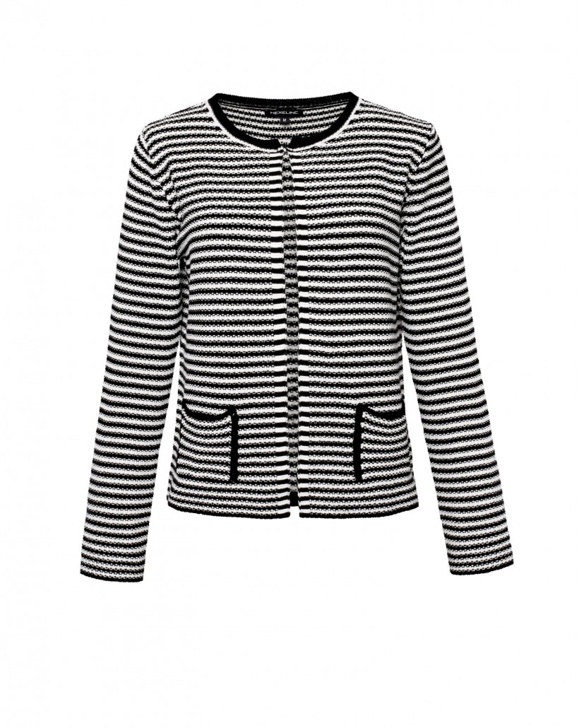 Sweter z bawełny w paski białe i czarne