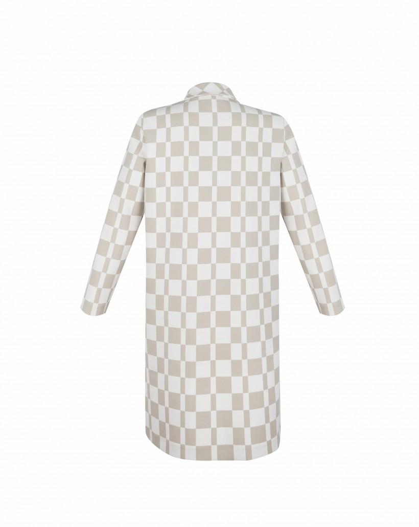 Płaszcz w szachownicę