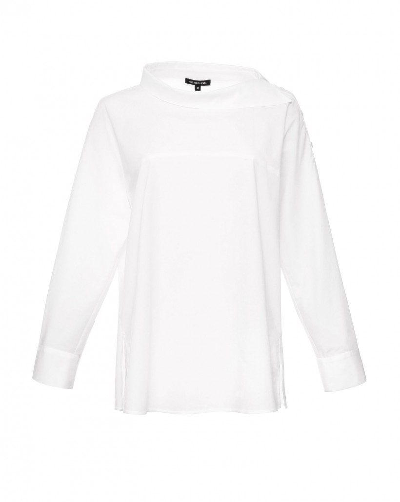 Bawełniana bluzka z oryginalnym dekoltem