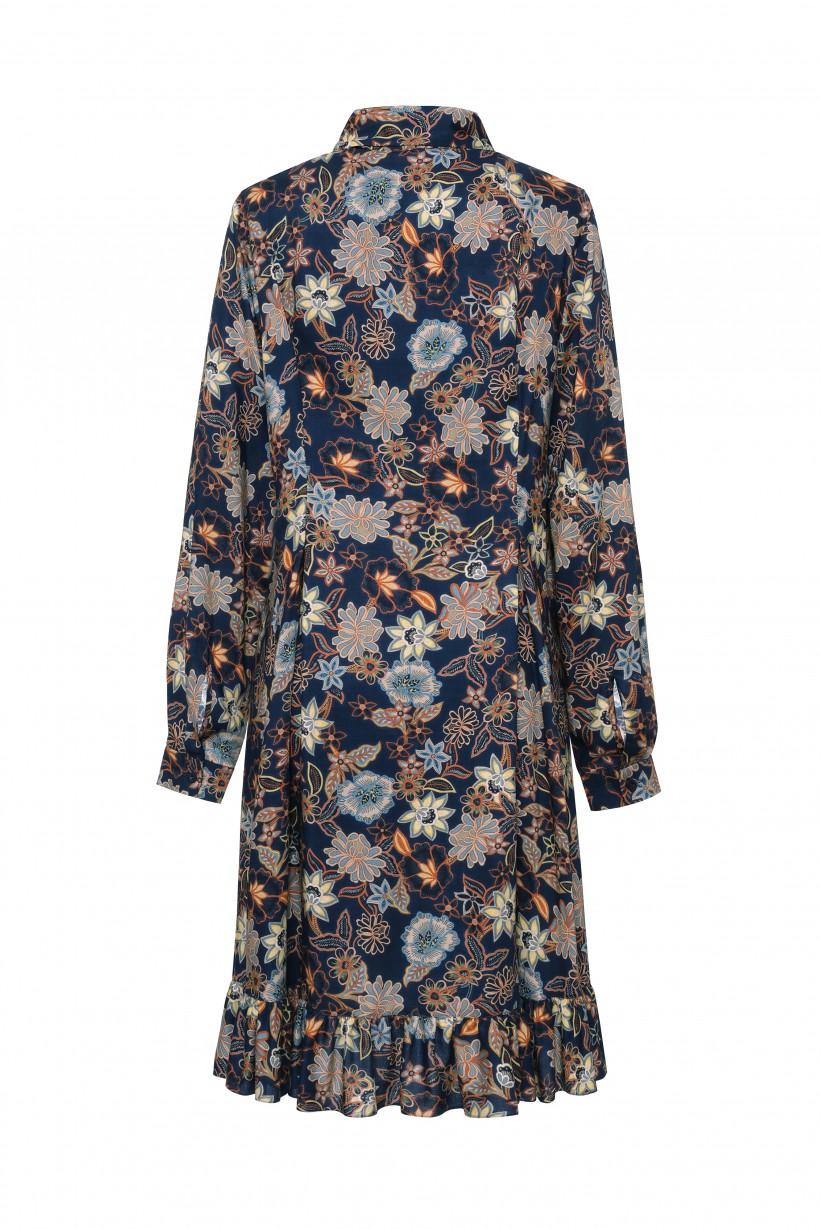 Rozkloszowana zwiewna sukienka w kwiaty