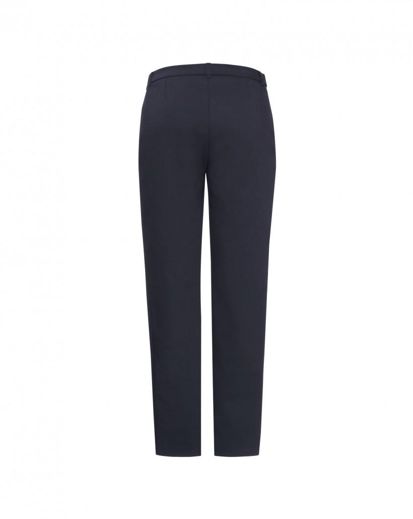 Klasyczne czarne spodnie z wąską nogawką