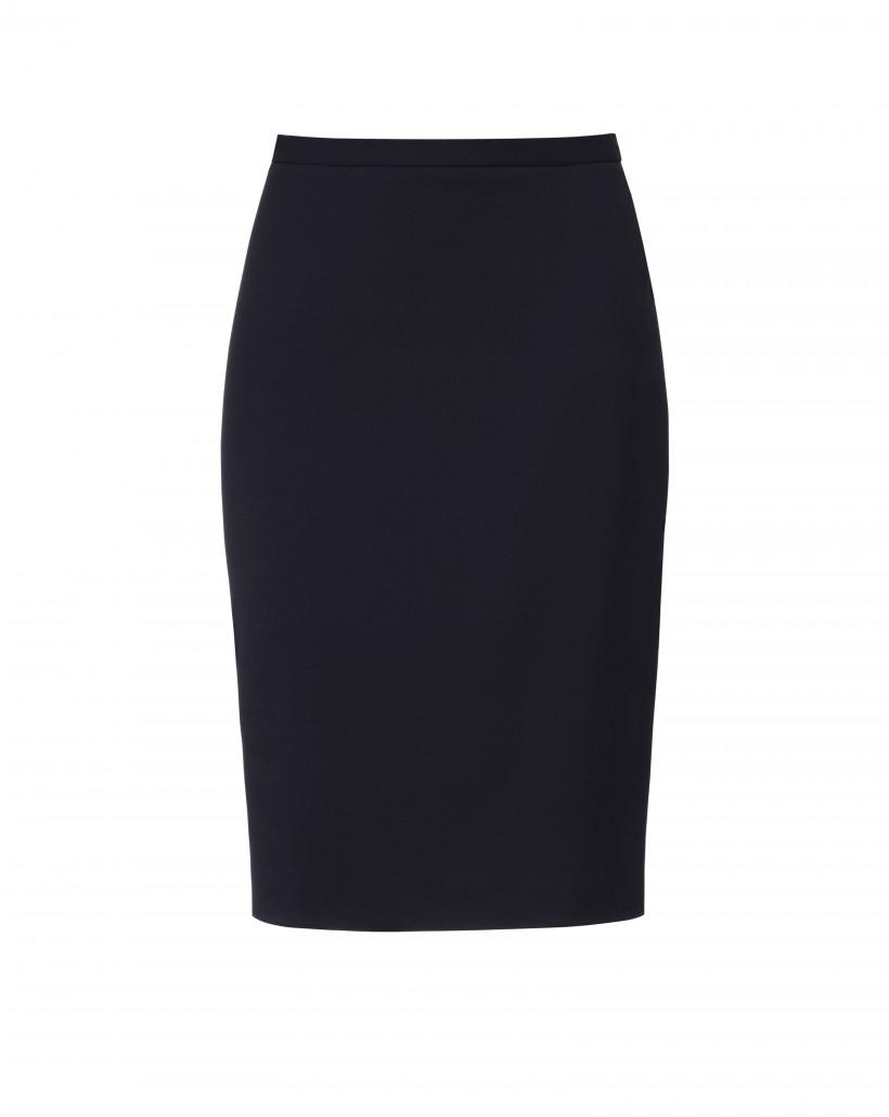 Klasyczna spódnica w kolorze czarnym o ołówkowym kroju
