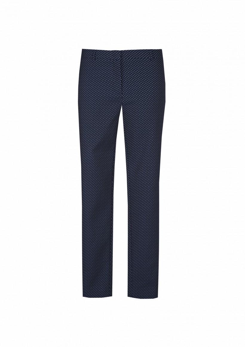 Granatowe spodnie w groszki