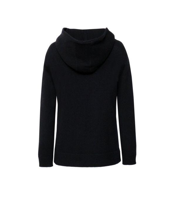 Kaszmirowy sweter z kapturem